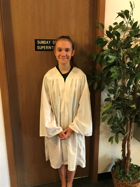 Hailey Mills, Baptized on June 30, 2019