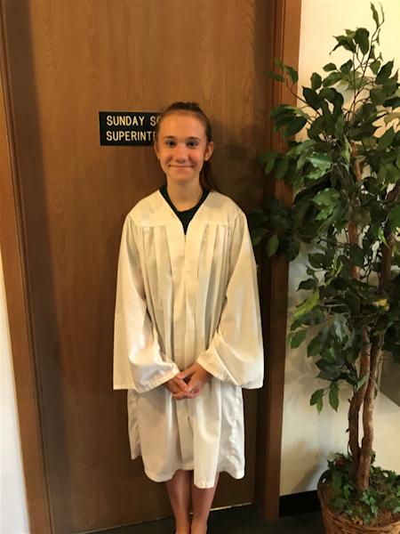 Hailey Mills, Baptized on June 30, 2019