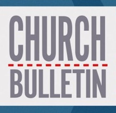 Sign that says Church Bulletin