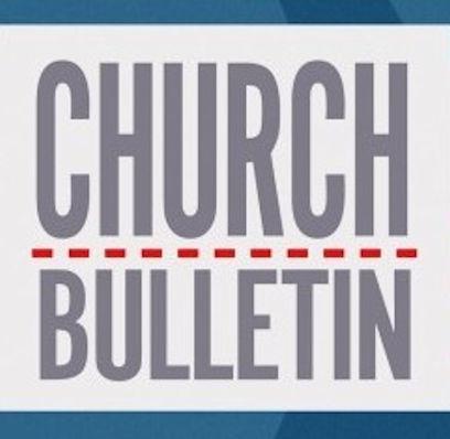 Sign that says Church Bulletin