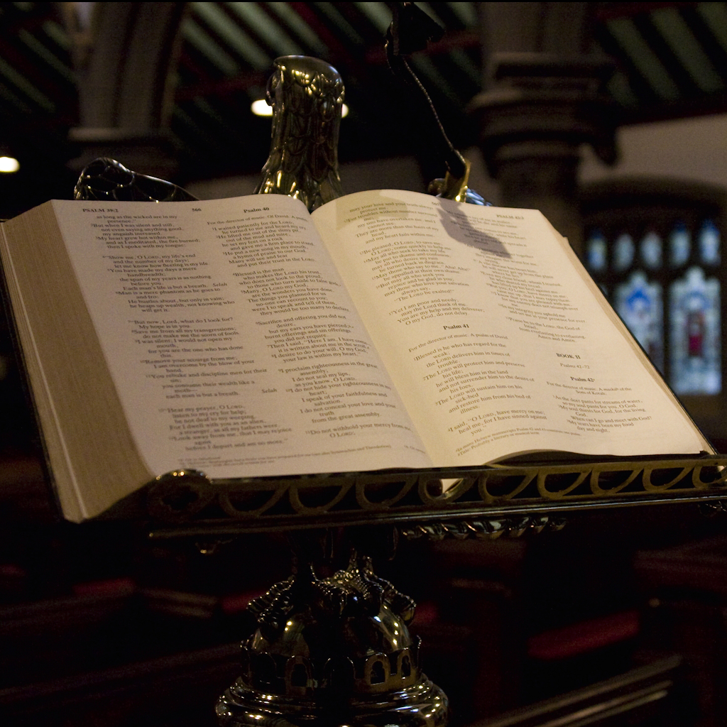 Bible on a stand